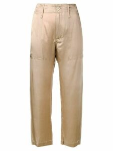 Jejia Camille cropped trousers - NEUTRALS