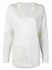 Fabiana Filippi V-neck jumper - White