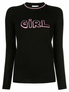 Bella Freud Girl intarsia jumper - Black