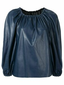 Bianca Spender three-quarter sleeve top - Blue
