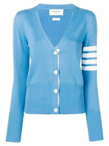 Thom Browne 4-Bar Whale Icon Intarsia Cardigan - Blue