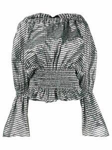 Comme Des Garçons Noir Kei Ninomiya structural checked ruched blouse -