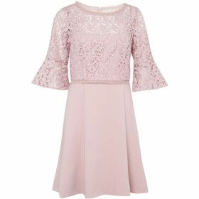 French Connection Whisper Ruth Lace Mix Dress