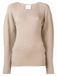 Stella McCartney side-zip jumper - NEUTRALS