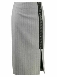 Karl Lagerfeld hook & eye tape skirt - Grey