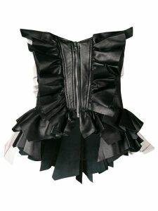 Natasha Zinko ruffled corset - Black