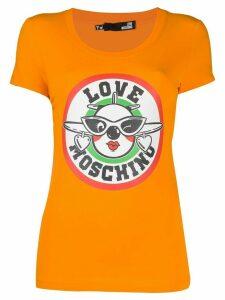 Love Moschino logo T-shirt - ORANGE