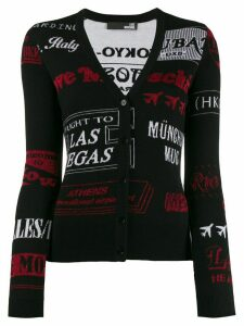 Love Moschino slim-fit cities cardigan - Black