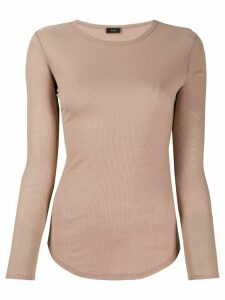 Joseph fitted knit jumper - NEUTRALS