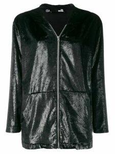 Love Moschino zip front hoodie - Black