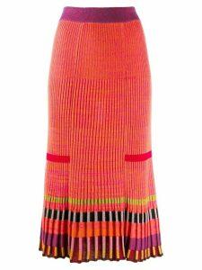 Kenzo ribbed skirt - ORANGE