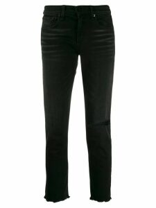Rag & Bone cropped Dre boyfriend jeans - Black