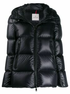 Moncler zipped short puffer jacket - Black