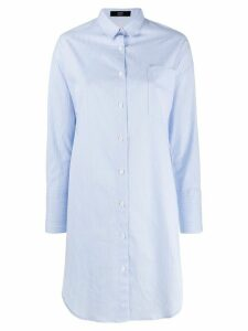 Steffen Schraut striped long shirt - Blue