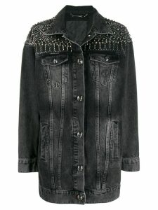 Philipp Plein Gothic Plein Denim Jacket - Grey