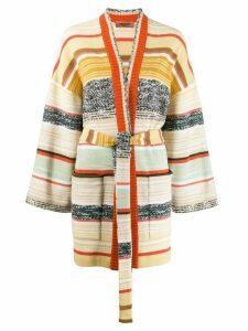 Missoni color block stripes cardigan - NEUTRALS