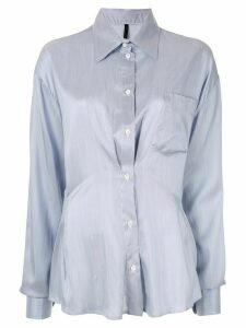 UNRAVEL PROJECT ruched detail shirt - Blue