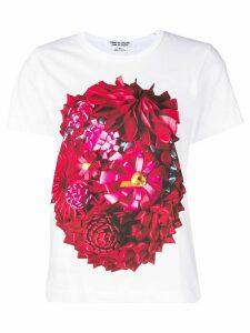 Comme Des Garçons Comme Des Garçons floral print T-shirt - White