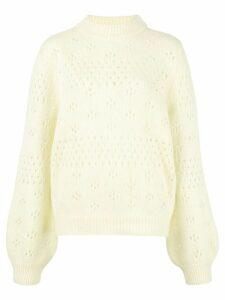 ANINE BING Candice eyelet knit sweater - Yellow