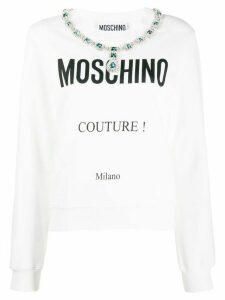 Moschino logo sweatshirt - White
