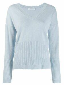 Derek Lam 10 Crosby Twilight Wool Cashmere Wooster V-Neck Sweater -