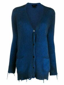 Avant Toi fine knit cardigan - Blue