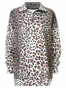 Marques'Almeida oversized leopard sweatshirt - Grey