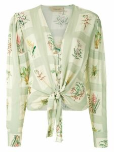Adriana Degreas printed tie knot shirt - Multicolour