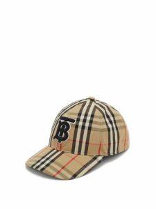 Burberry - Vintage-check Cotton Baseball Cap - Womens - Beige Multi
