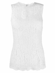 Dolce & Gabbana floral lace blouse - White