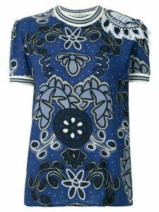 Martha Medeiros Eduarda Lorain printed blouse - Blue