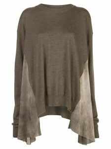 Uma Wang asymmetric oversized jumper - Brown