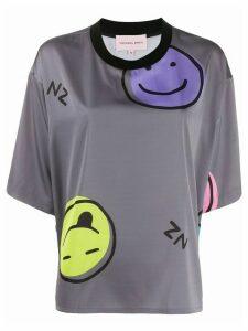 Natasha Zinko Emoji boxy-fit T-shirt - Grey