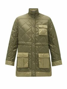 Ganni - Quilted Recycled-ripstop Jacket - Womens - Khaki