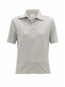Giuliva Heritage Collection - The Daphne Striped Cotton Polo Shirt - Womens - Light Brown