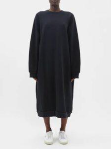 Raey - Organic And Recycled-yarn Cotton-blend Maxi Dress - Womens - Black