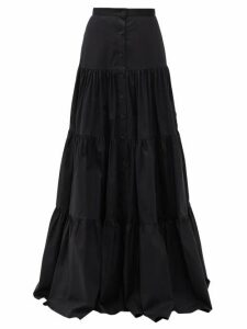 Brock Collection - Tiered Cotton-blend Skirt - Womens - Black