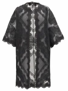 Andrew Gn - Lace-trimmed Cotton-blend Organza Coat - Womens - Black