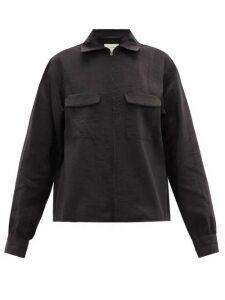Lemaire - Flap-pocket Silk-blend Shirt - Womens - Black