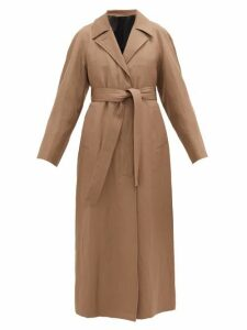 Lemaire - Tie-waist Wool-blend Coat - Womens - Light Brown