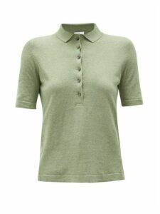 Allude - Knitted Polo Shirt - Womens - Khaki