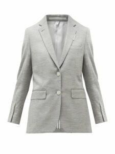 Burberry - Single-breasted Wool-blend Jersey Jacket - Womens - Grey