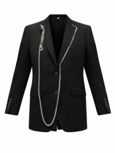 Burberry - Chain-trimmed Single-breasted Wool Blazer - Womens - Black