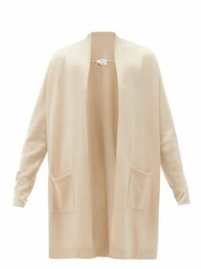 Allude - High-neck Wool-blend Cardigan - Womens - Beige