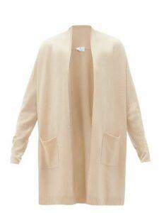 Allude - High-neck Wool-blend Cardigan - Womens - Beige