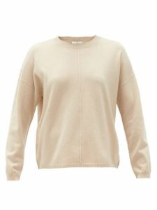 Allude - Round-neck Wool-blend Sweater - Womens - Beige