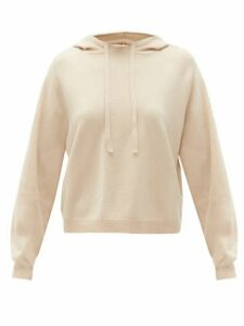 Allude - Drawstring Wool-blend Hooded Sweater - Womens - Beige