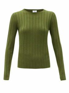 Allude - Wide-rib Merino-wool Sweater - Womens - Khaki