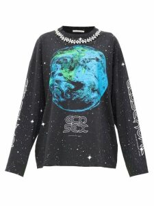 Christopher Kane - Ecosexual Crystal-embellished Sweatshirt - Womens - Black
