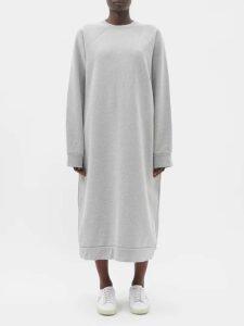 Raey - Organic And Recycled-yarn Cotton-blend Maxi Dress - Womens - Grey